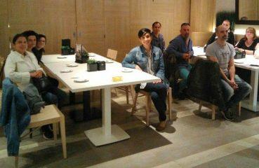 Usuarios del servicio de orientació de ASPROM visitan El Corte Inglés