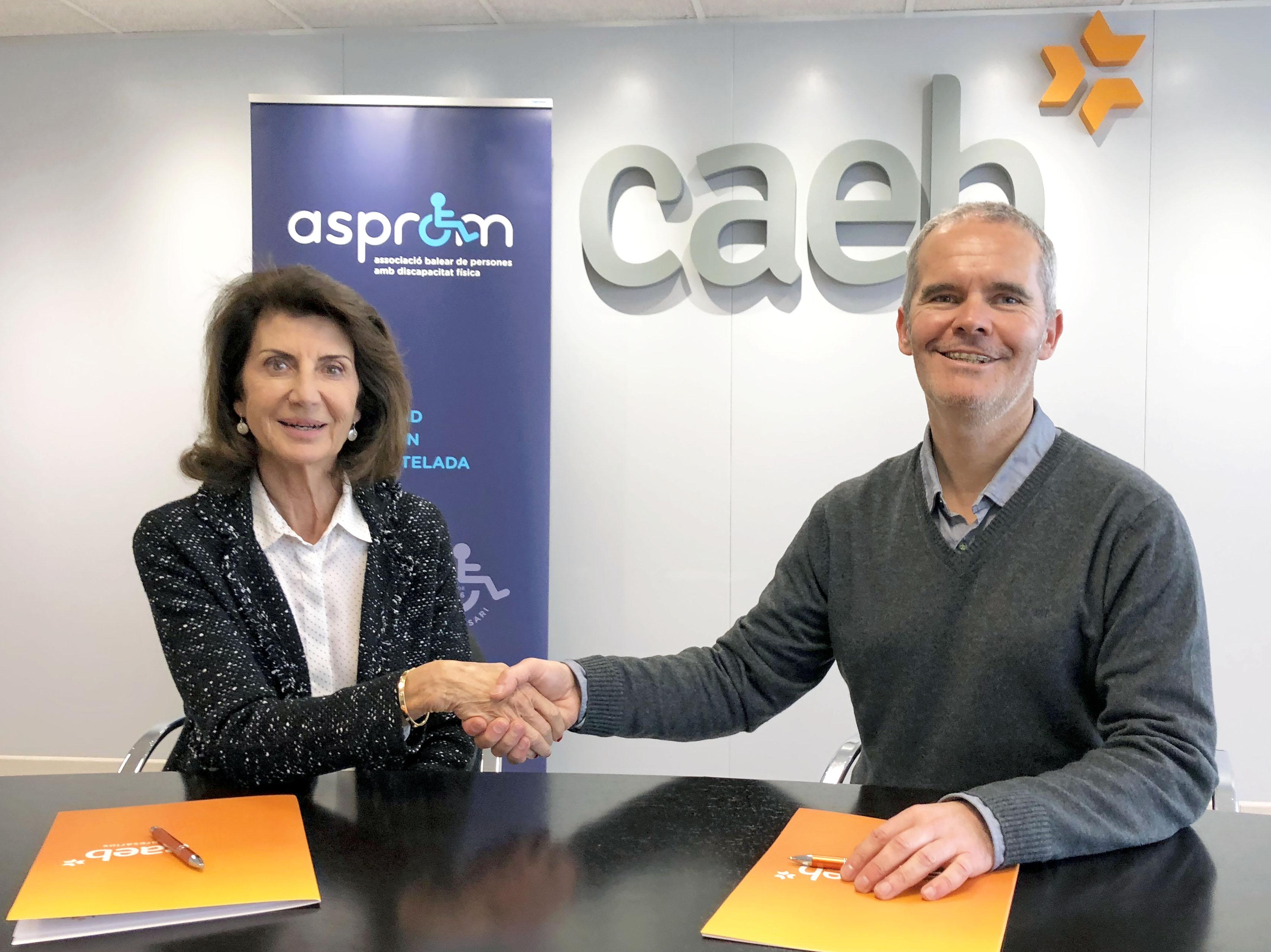 CAEB y ASPROM suscriben el acuerdo de inserción laboral para personas con discapacidad física